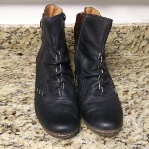 Pikolinos Black Leather Booties Size 42/11